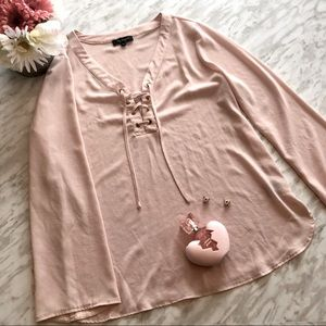 ✨2 for $25✨ Lily Morgan blush flowy top size large